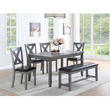 F2548 / Cat.19.p84- 6PCS DINING TABLE SET