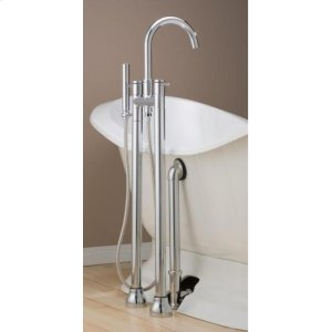 CONTEMPORARY Tub Faucet with Hand Shower & Free Standing Water Supply Lines Product Image
