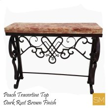 * Travertine Console Table 1255 F