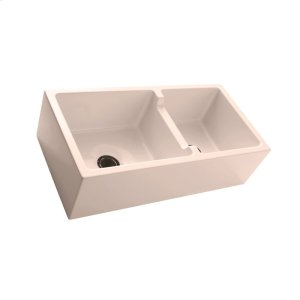 """Maura 36"""" Double Bowl Farmer Sink - Bisque Product Image"""