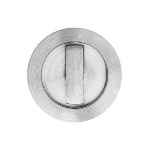 Round flush pull 65 with turn snib, Antique Brass Dark Product Image