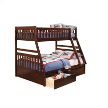 Twin/Full Bunk Bed with Storage Boxes