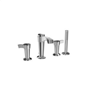 4-piece Deckmount Tub Faucet With Hand Shower - Chrome Product Image