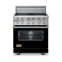 "30"" Custom Electric Range, Brass Accent"