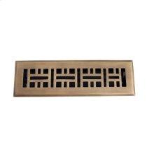 "Ventura Brass Heat Register - 2 1/4"" x 10"" (4"" x 11 1/2"") / Antique Brass"