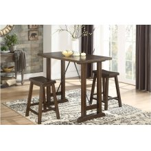3-Piece Counter Height Table Set