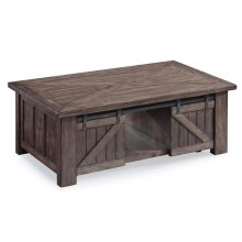 Garrett Rectangular Lift Top Cocktail Table with Casters