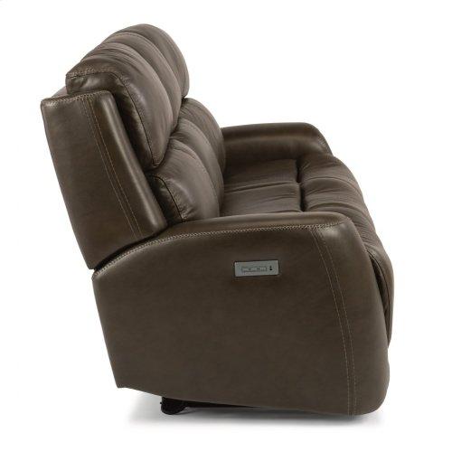 Zelda Leather Power Reclining Sofa with Power Headrests