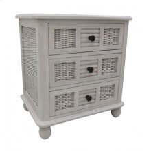 Bay Breeze Three Drawer Nightstand Chest