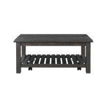 Barn Door Collection Coffee Table, Antique Black