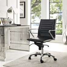 Ascend Mid Back Office Chair in Black