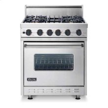 "Burgundy 30"" Sealed Burner, Dual Fuel Range - VDSC (30"" wide range with four burners, single oven)"