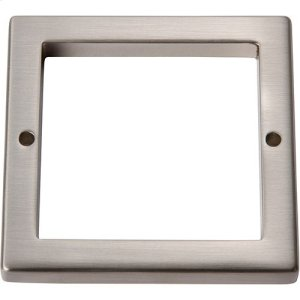 Tableau Square Base 2 1/2 Inch - Brushed Nickel Product Image