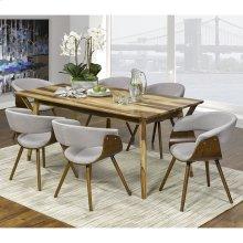 Mira/Holt 7pc Dining Set, Sheesham/Grey