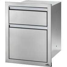 "18"" X 24"" Double Drawer: Large and Standard Large and Standard , Stainless Steel"