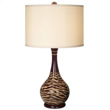 Tiger Tale Table Lamp - Merlot
