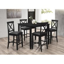 7720 Black Counter Height Chair