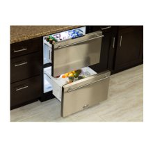 """24"""" Refrigerated Drawers - Marvel Refrigeration - Solid Stainless Steel Drawer Front - Floor Model"""