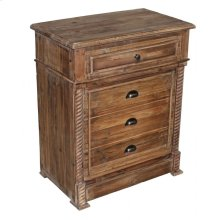 Carved Small Pine Cabinet