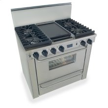 "36"" All Gas, Convect, Sealed Burners, Stainless Steel"