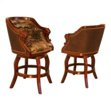 "Elephant ""Safari Collection"" Bar & Counter Swivel Stool"