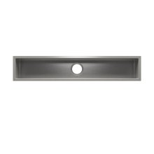"J7® 003969 - undermount stainless steel Bar sink , 42"" × 7"" × 6"""