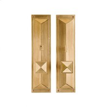 """Mack Privacy Set - 3 3/4"""" x 15"""" Silicon Bronze Brushed"""
