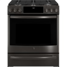 "GE Profile™ 30"" Slide-In Front-Control Gas Range"