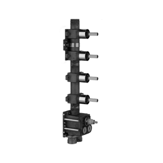 In-wall rough valve only for high flow thermostatic mixer 39550