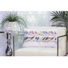"Outdoor Pillow L1159 White 1'2"" X 2' Throw Pillow"