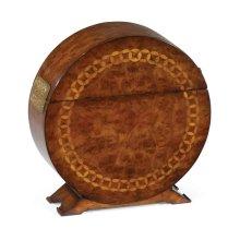 Circular Walnut & Circular Inlay Placemat Box