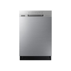 Front Control Dishwasher with Hybrid Interior in Stainless Steel Product Image