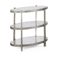 Small glomise & Silver Iron Three-Tier Table