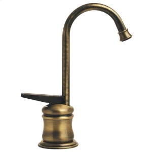 Point of Use instant hot water faucet with a gooseneck spout and self-closing handle. Product Image