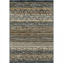 Togo Contemporary 5x8 Area Rug in Blue/Gold