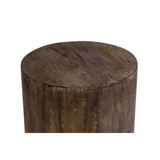 Mango Wood Drum Side Table