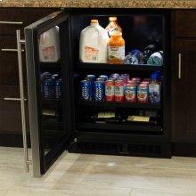 "24"" Beverage Center with Convertible Shelves - Stainless Frame Glass Door - Right Hinge - Floor Model"