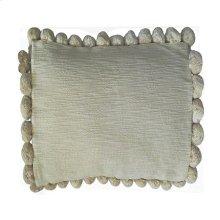 "Serena Pom Pom Square Pillow (22"" X 22"") - Oatmeal"