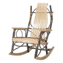 Amish 9 Slat Rocker-oak/hickory W/ Oak Arm