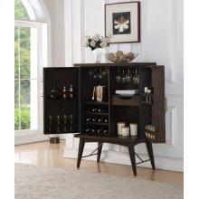 Bar Cabinet-weathered Oak Finish