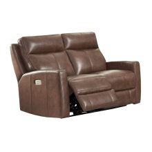 Power Reclining Love Seat in Splash-Carmel