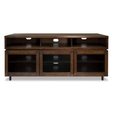 Cocoa Finish Wood Home Entertainment Cabinet