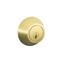 J Series Two Side Keyed Deadbolt - Bright Brass