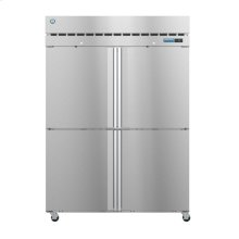 R2A-HS, Refrigerator, Two Section Upright, Half Stainless Doors with Lock