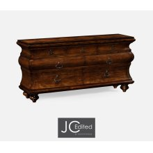 Large Rectangular Rustic Walnut Chest of Drawers