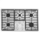 "36"" Built-In Gas Deep Recessed Stainless Steel Cooktop Product Image"