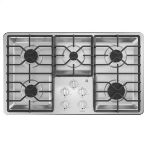 "36"" Built-In Gas Deep Recessed Stainless Steel Cooktop"