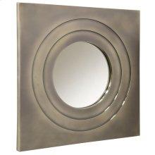 BALLAS MIRROR  Aluminum Finish on Metal Frame  Plain Glass Beveled Mirror