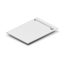 "18"" Dishwasher Panel in White Matte with Traditional Handle (DP-WM-18)"