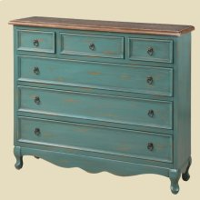 """Cottage"" Teal Narrow Chest"